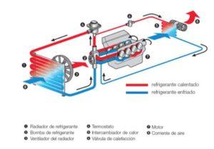 Circuito refrigeración anticongelante